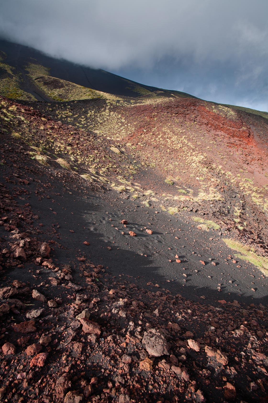 scories basaltiques sur l'Etna en Sicile