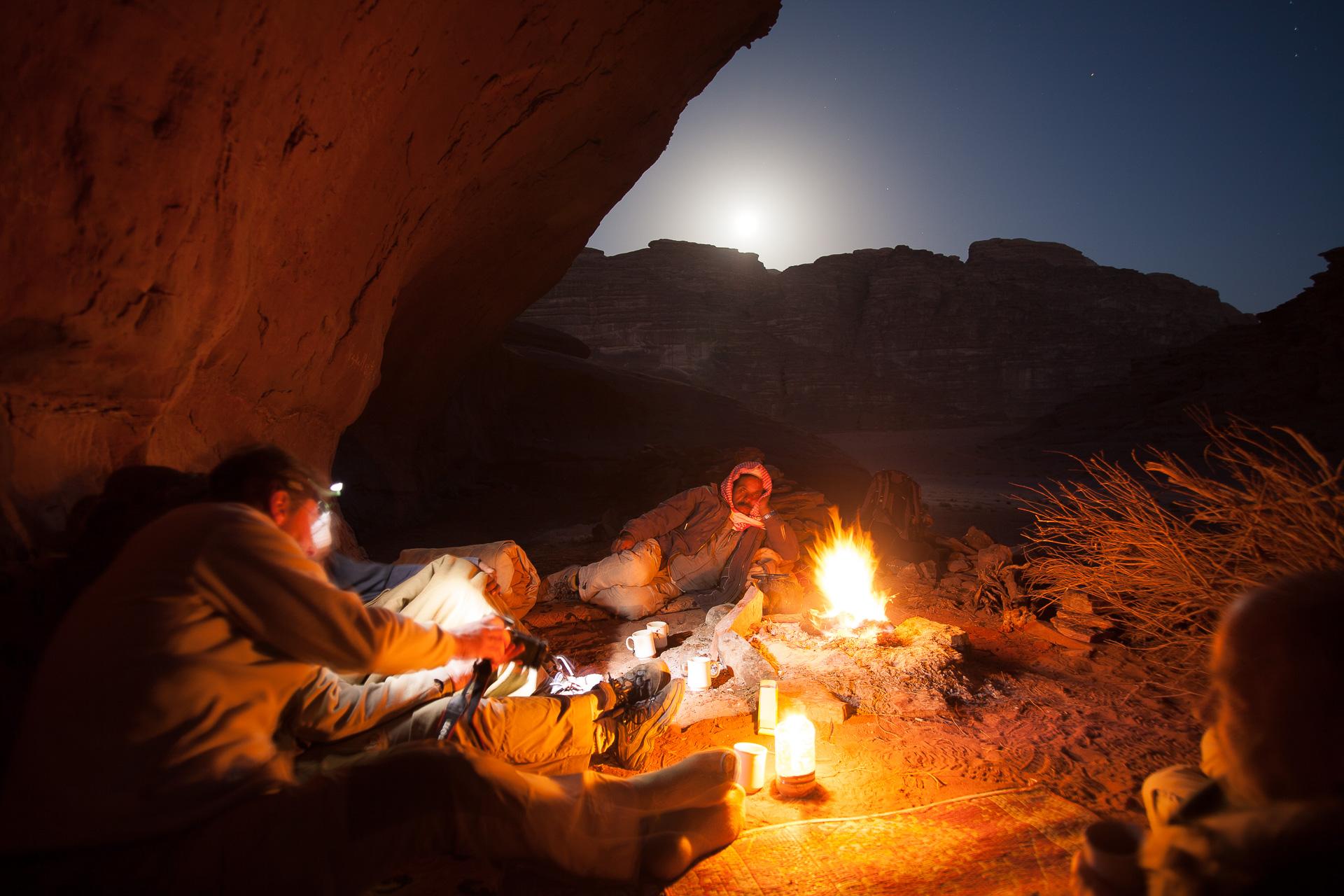 bivouac dans le désert de Wadi Rum en Jordanie