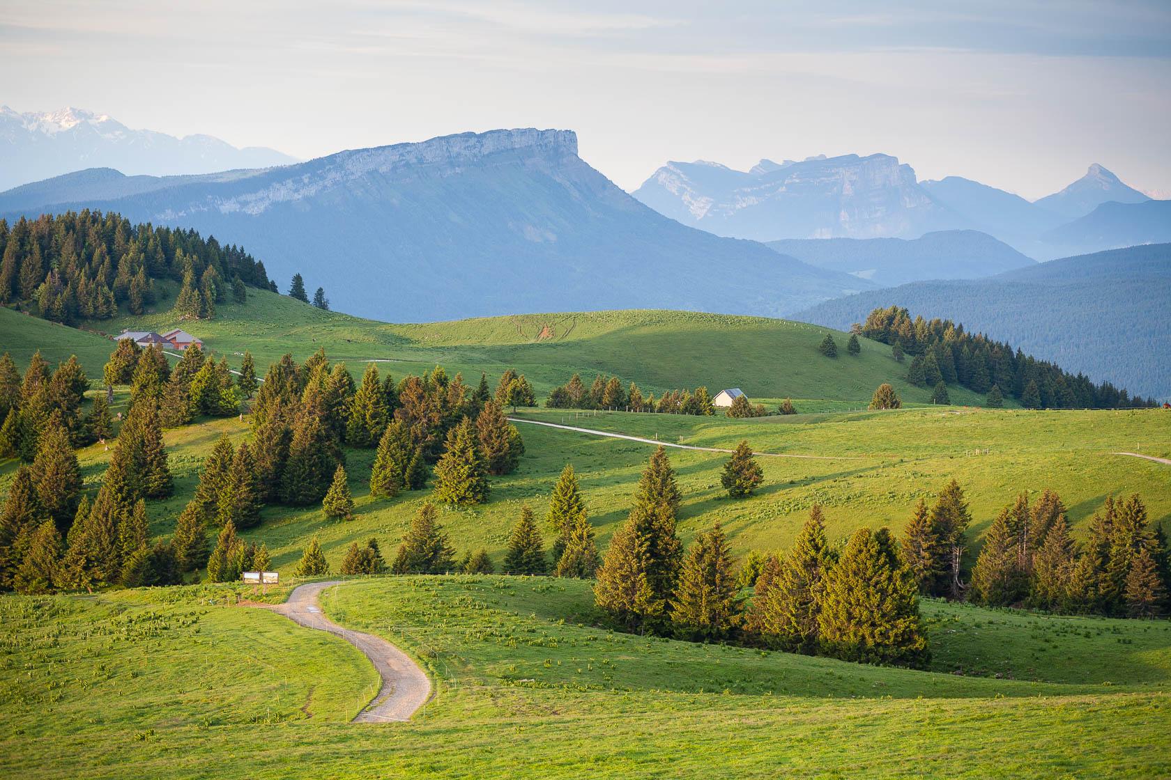 Alpage du Semnoz, dans le massif des Bauges, en été