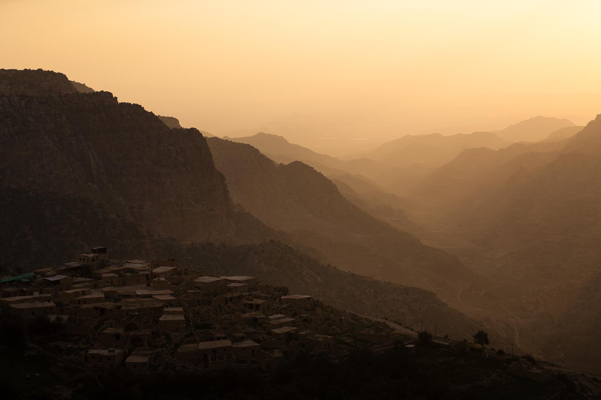 Villlage de Dana et Wadi Dana en Jordanie