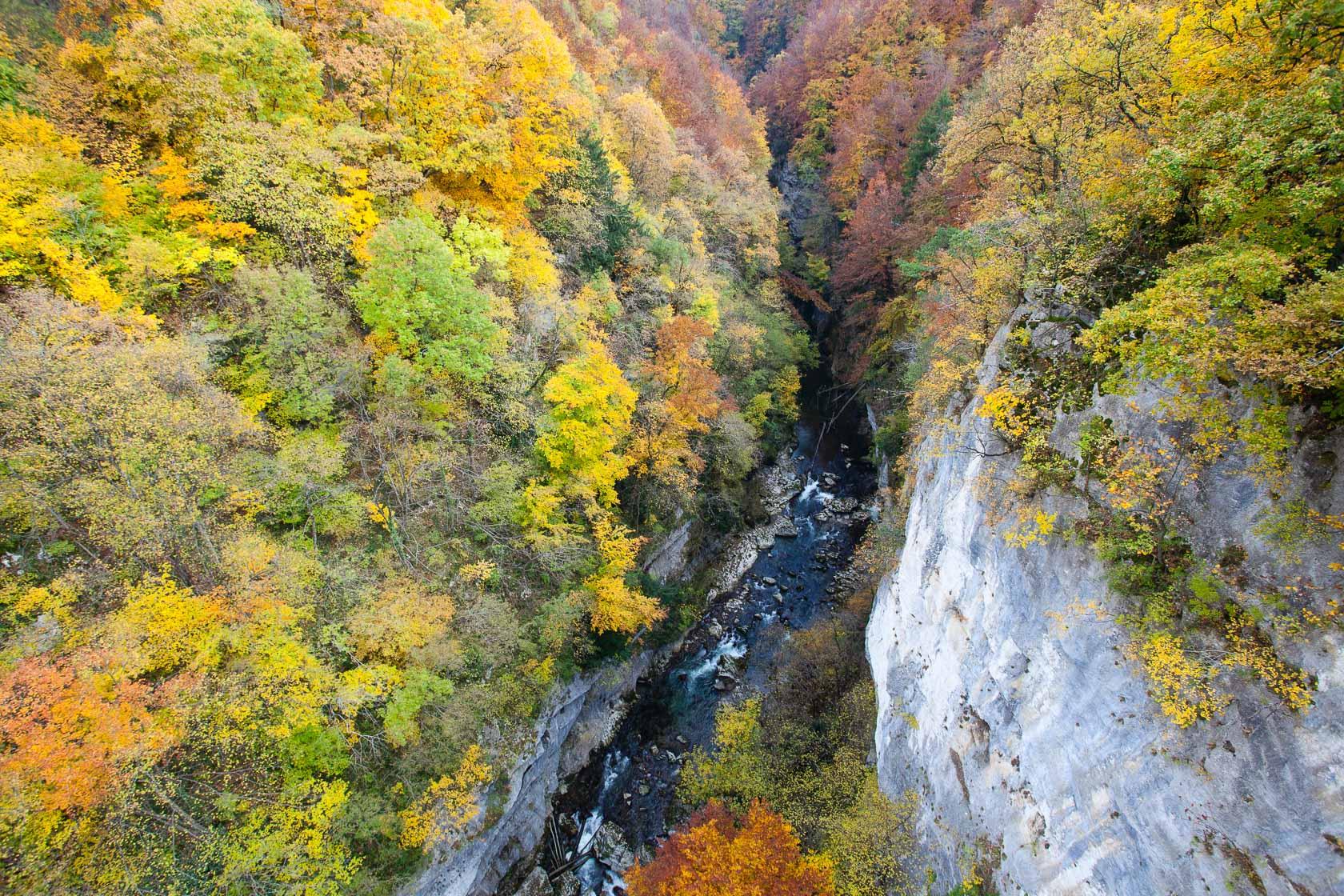 Les gorges du Charan au pont de l'abîme, Géoparc du massif des Bauges