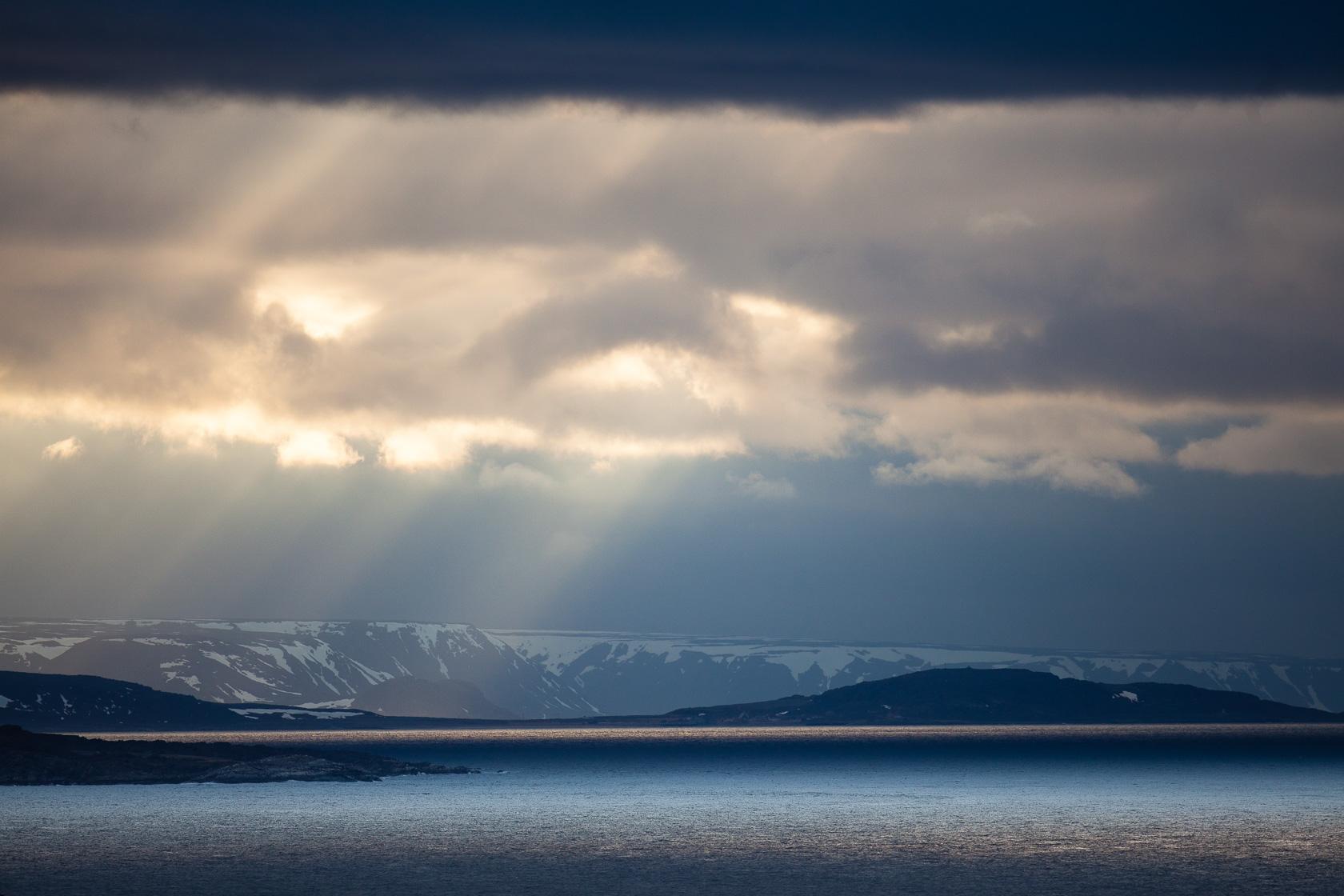 Littoral du Varanger depuis l'île d'Hornøya en Norvège