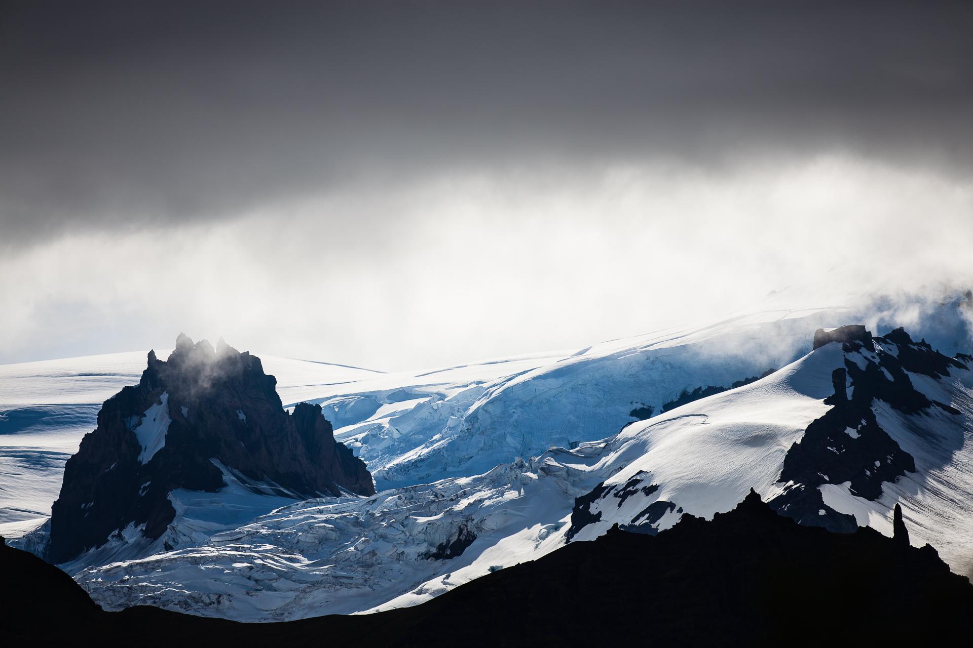 glaciers dans le parc national de Skaftafell, en islande