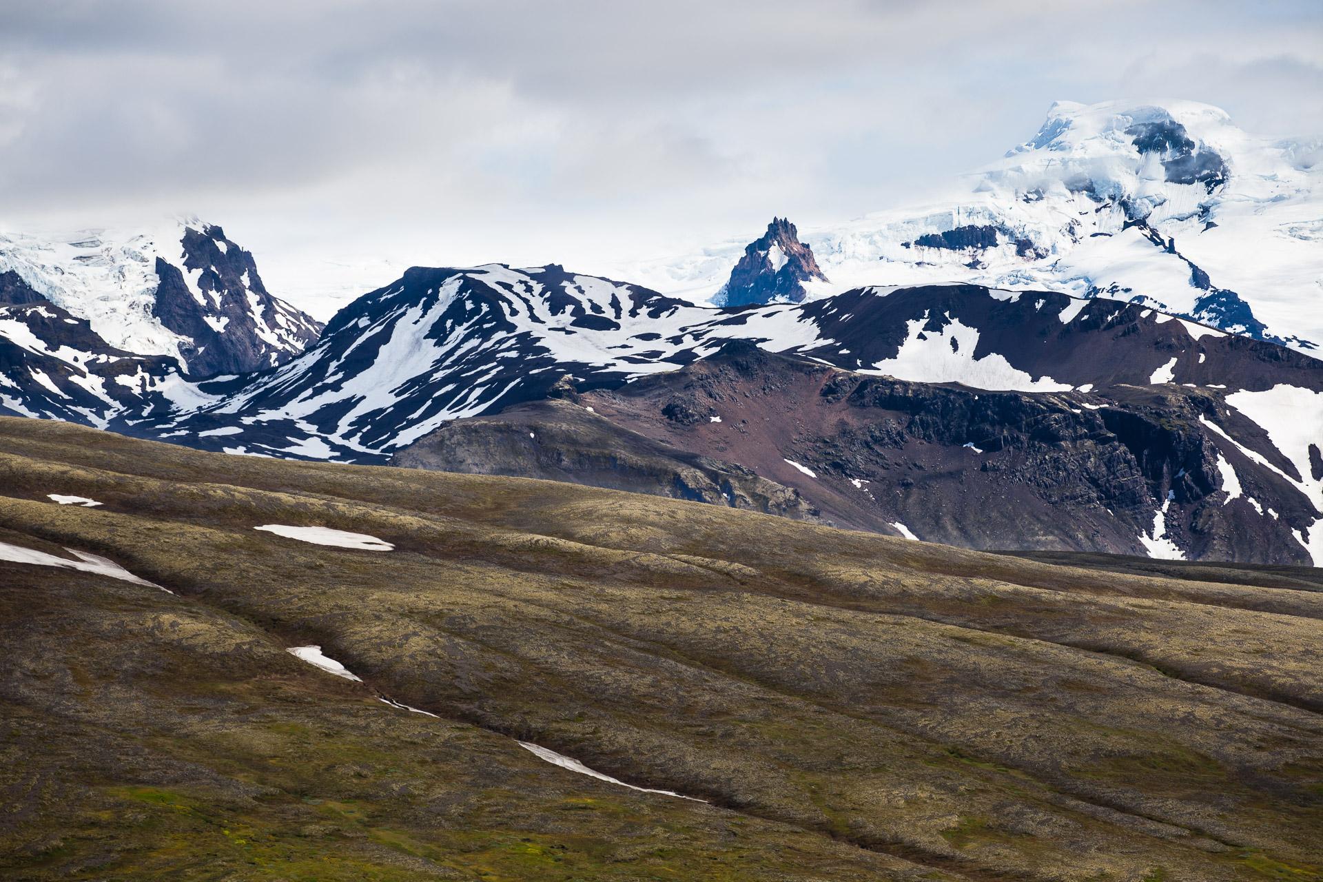 Hvannadalshnjúkur, point culminant de l'Islande, dans le parc national de Skaftafell
