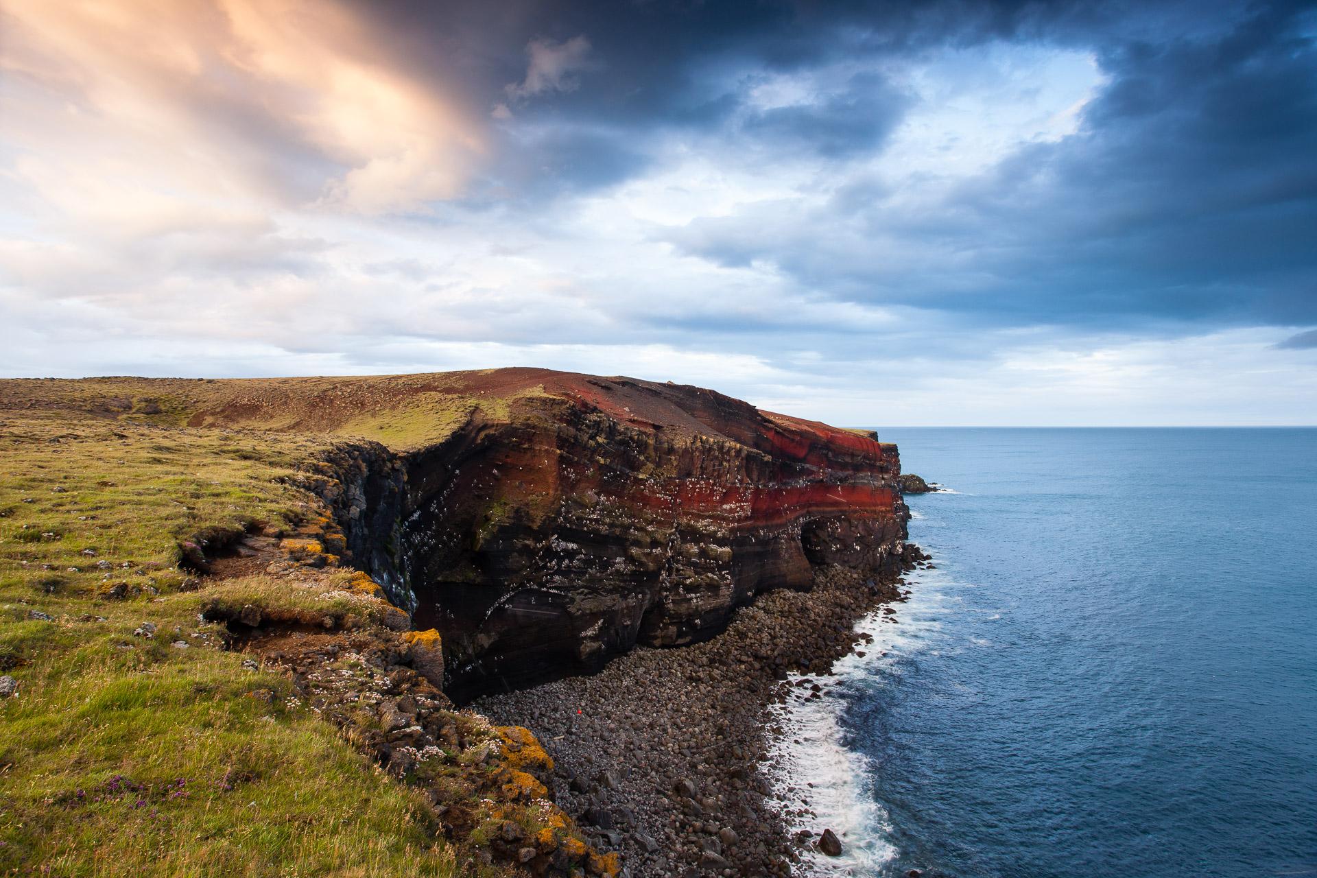 Côte de la péninsule de Reykjanes, en islande