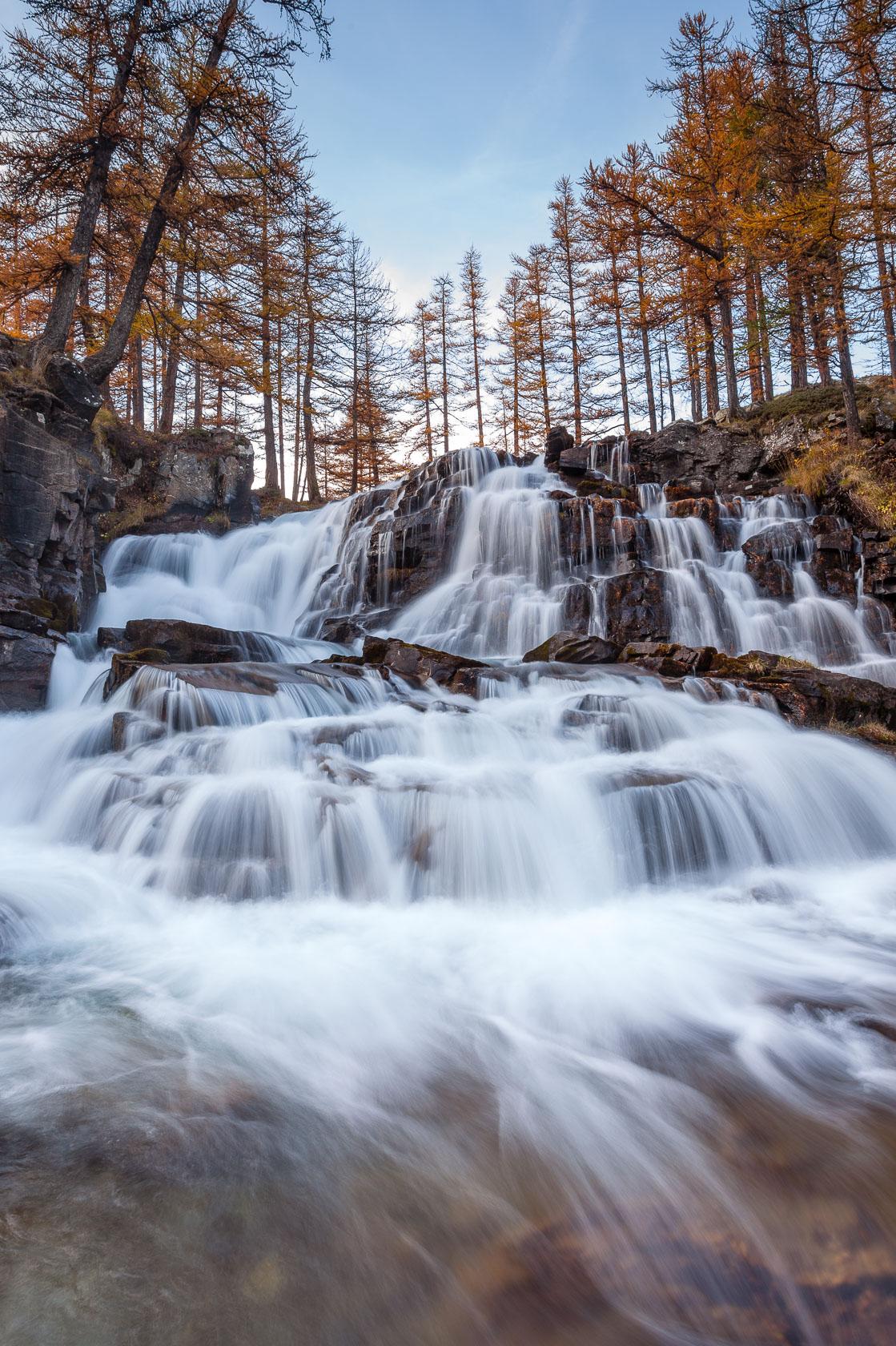 cascade de Fontcouverte, dans la vallée de la Clarée
