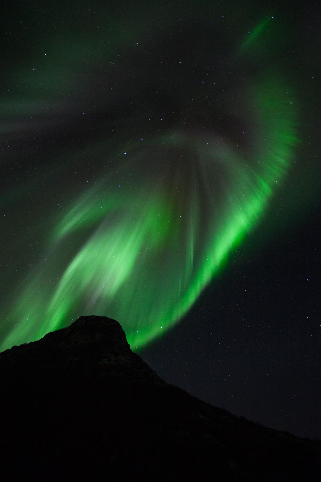 aurore boréale durant un voyage photo dans les îles Lofoten, en Norvège