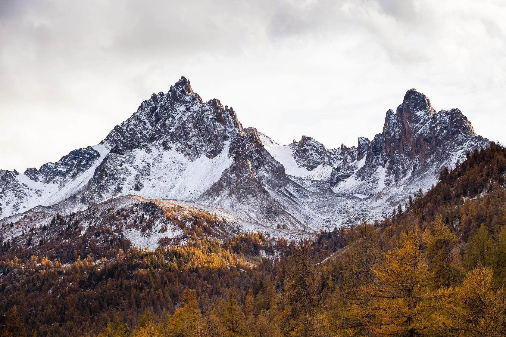 Montagnes de la Clarée, à Névache, dans les Hautes Alpes