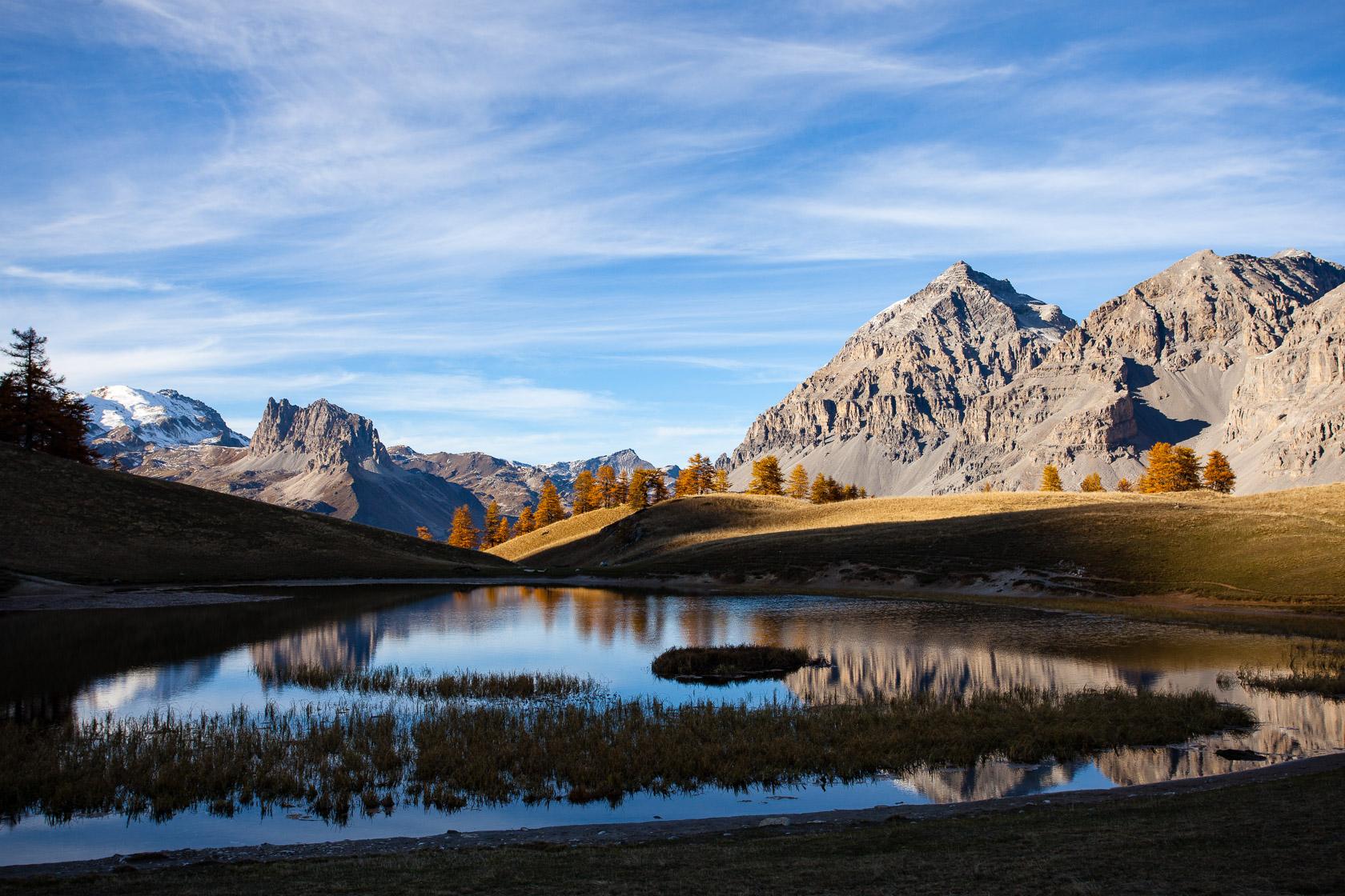 Lac Chavillon au col des Thures, dans les Hautes Alpes