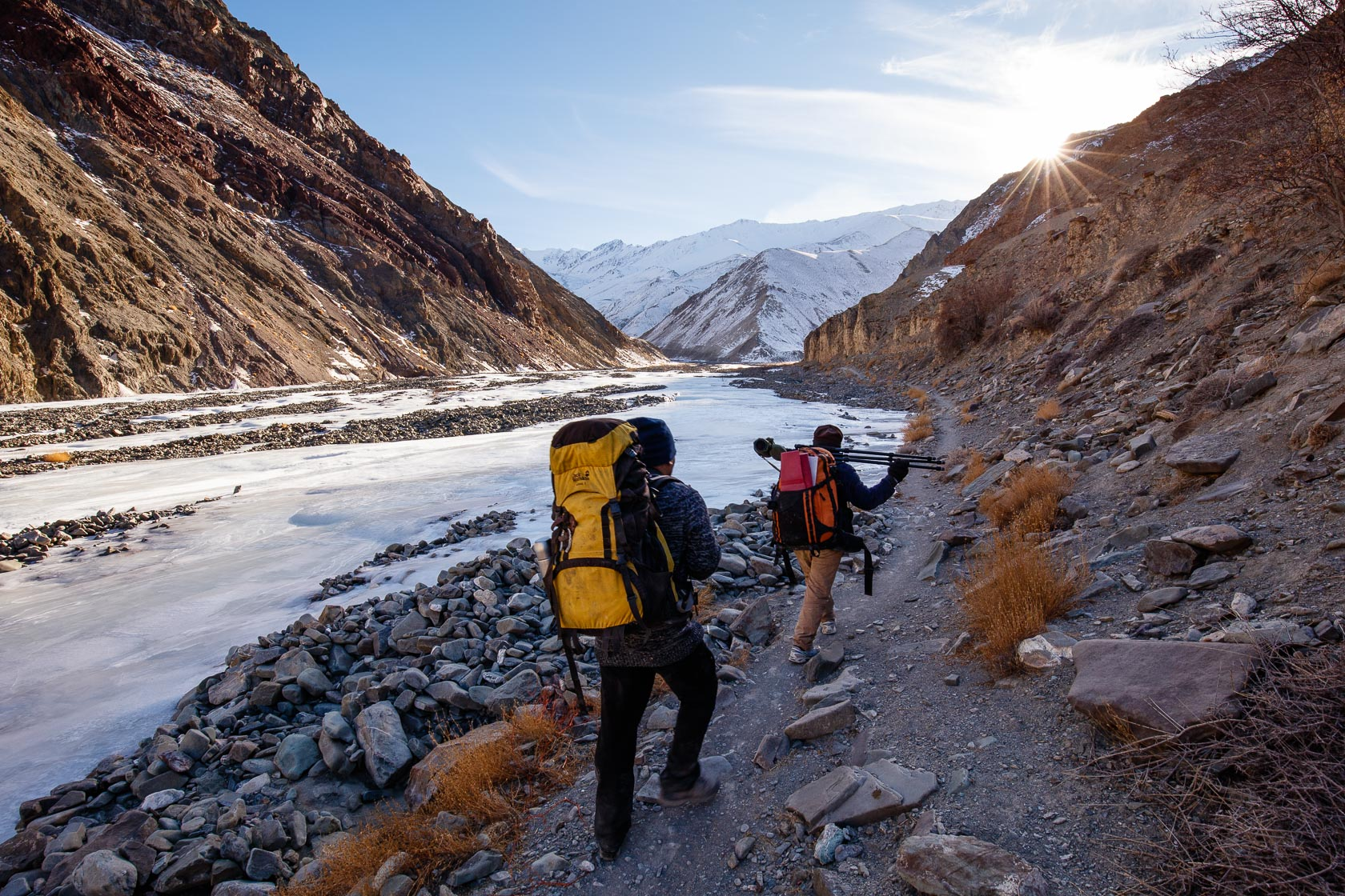 trekking photo dans la vallée de Rumbak, au Ladakh
