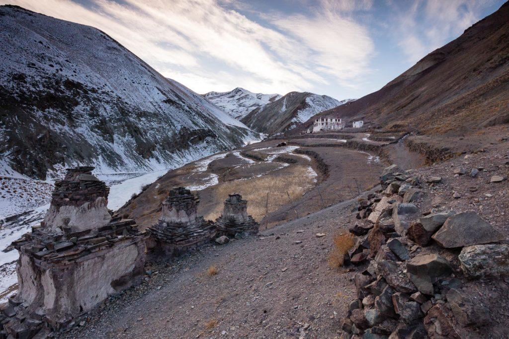 Yurutse, dernière maison sur el chemin du Ganda-la, au ladakh en Inde