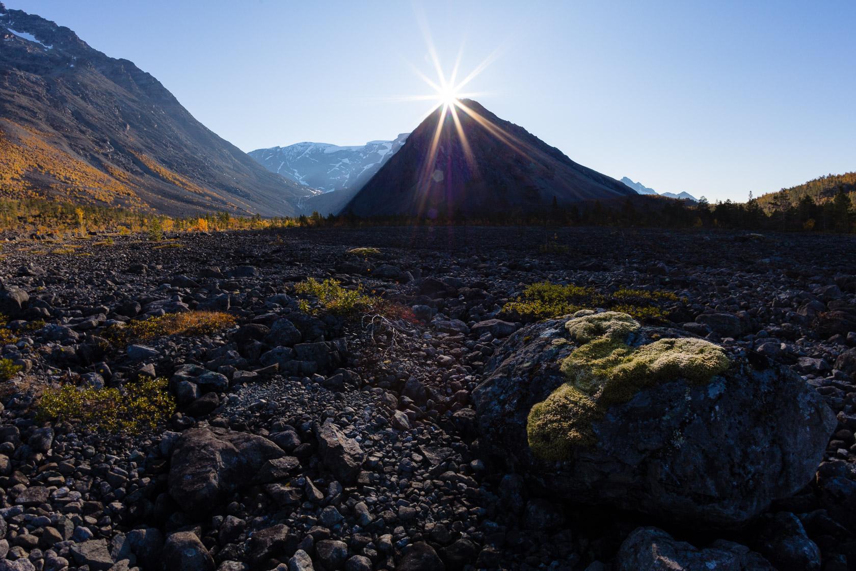 Paysage des Alpes de Lyngen, en Norvège