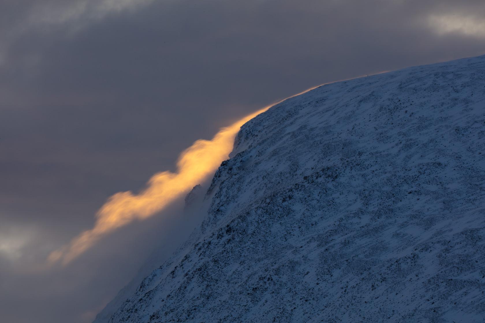 tempête de vent et de neige dans le Dovrefjell
