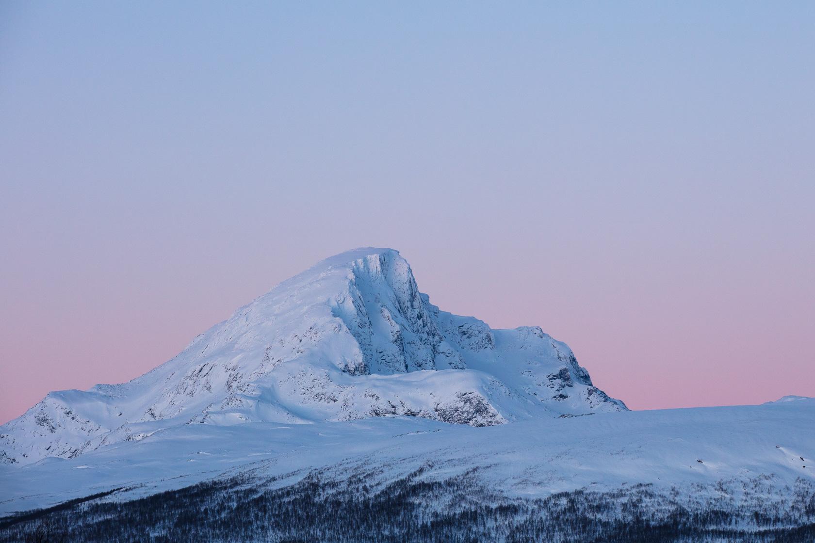 Blåfjellet en hiver, dans la région du Troms en Norvège