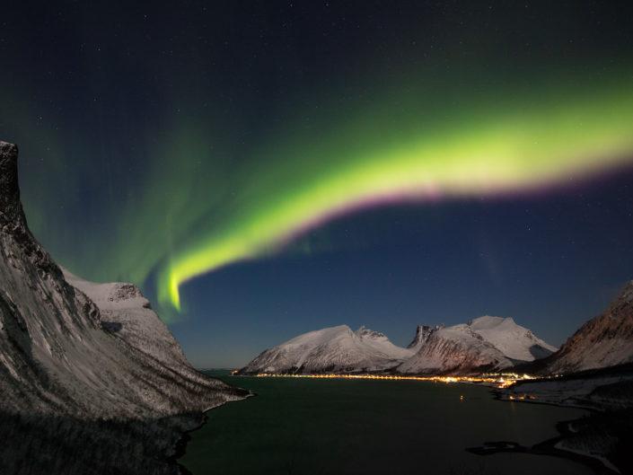 Aurores boréales en Laponie norvégienne