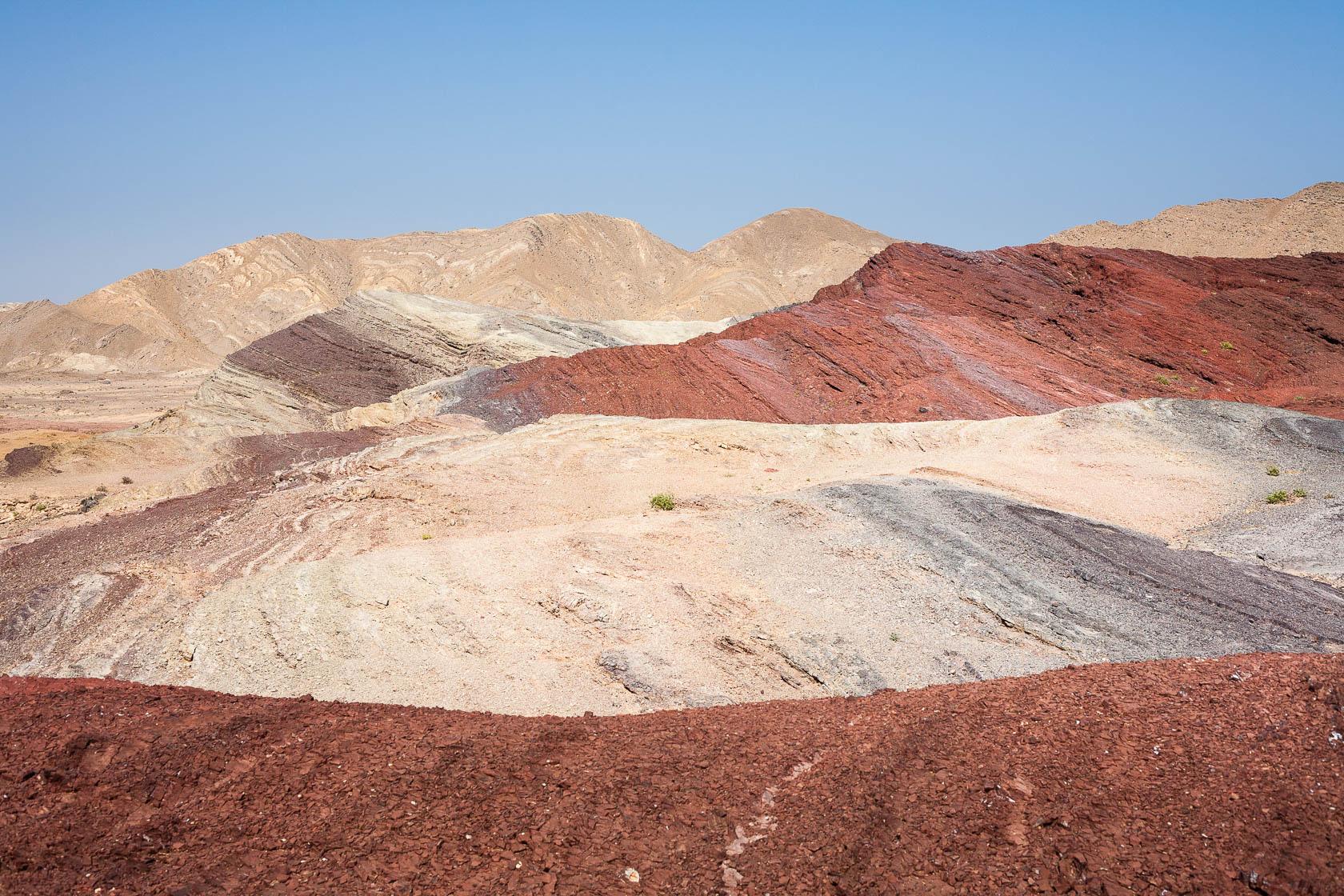 Paysages rocheux au nord est du Sultanat d'Oman