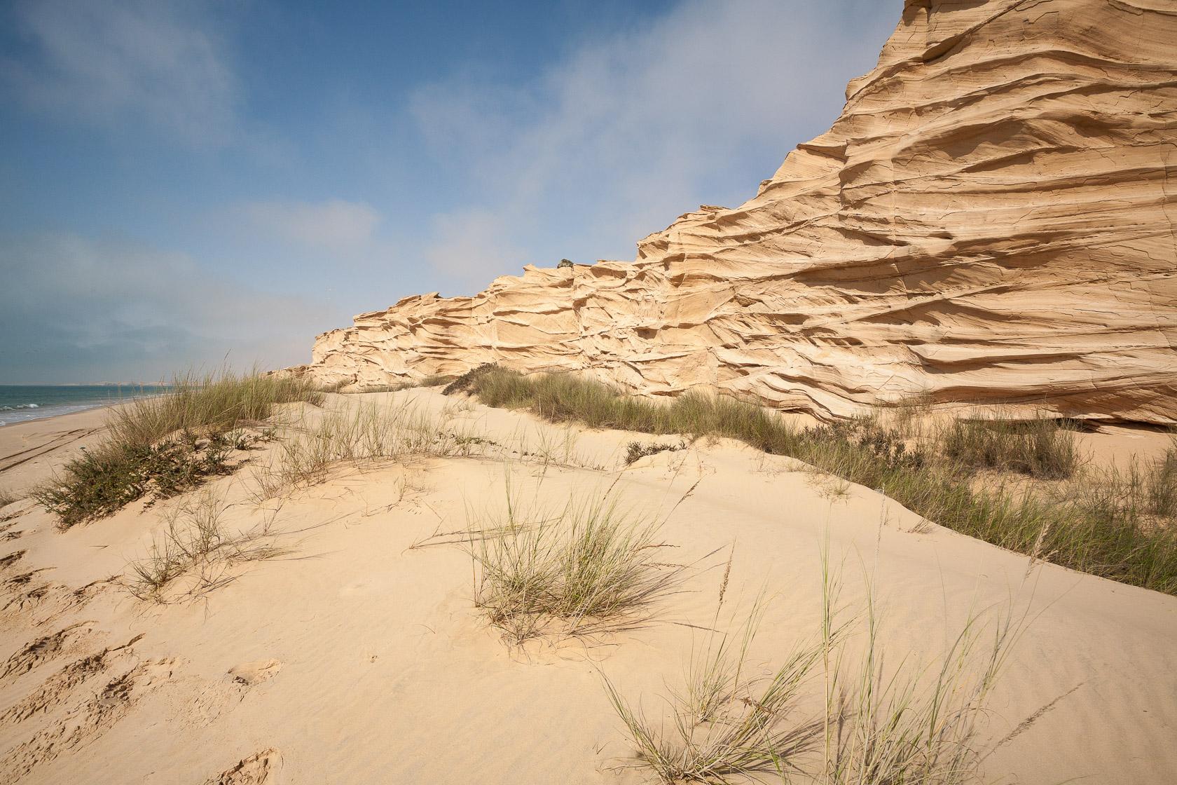 Dunes fossiles entre l'océan indien et le désert de Ramlat Al Wahiba