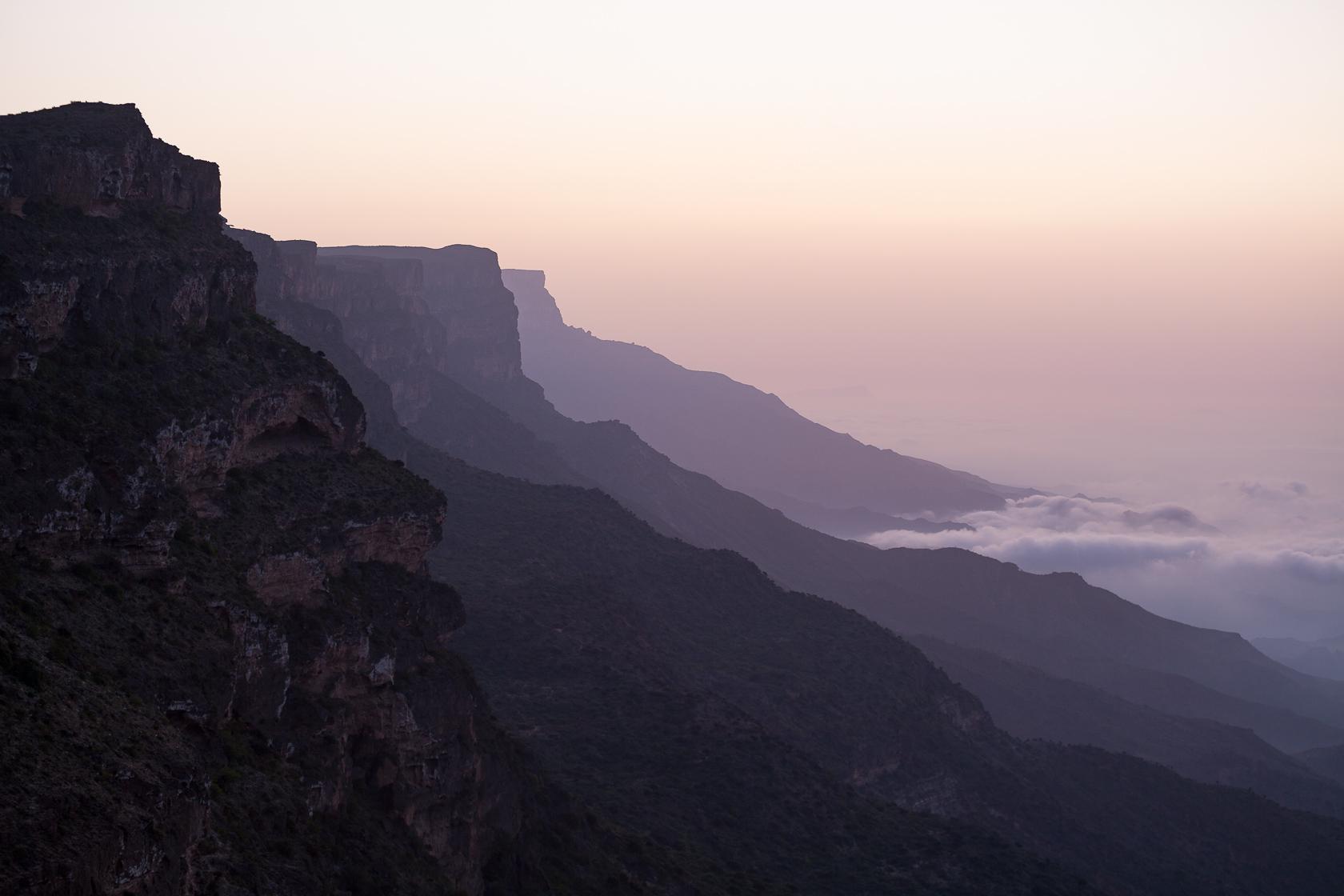 montagne du Djebel Shaman dans le Dhofar, à Oman