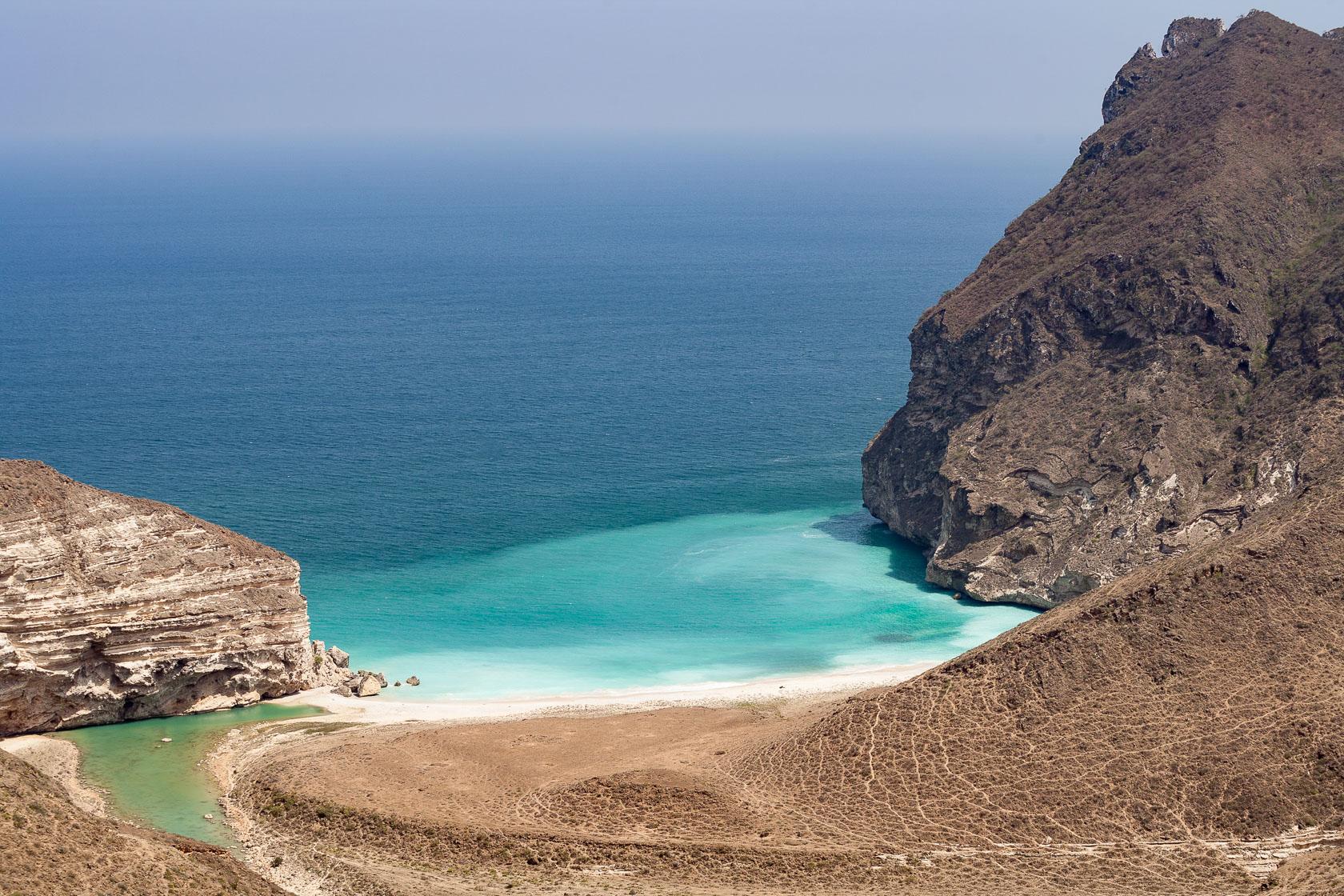 Wadi Al Mughsayl, dans le Dhofar à Oman
