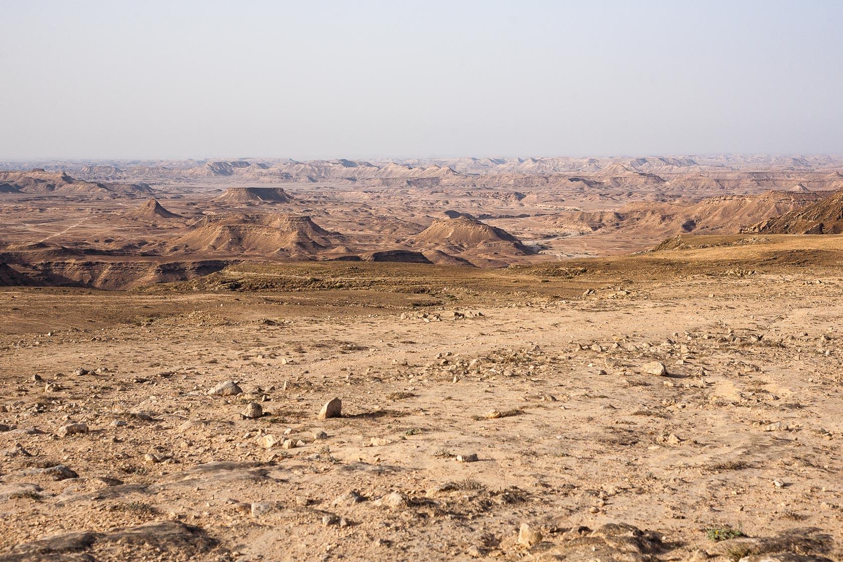 désert en direction du Rub Al Khali, au Sultanat d'Oman