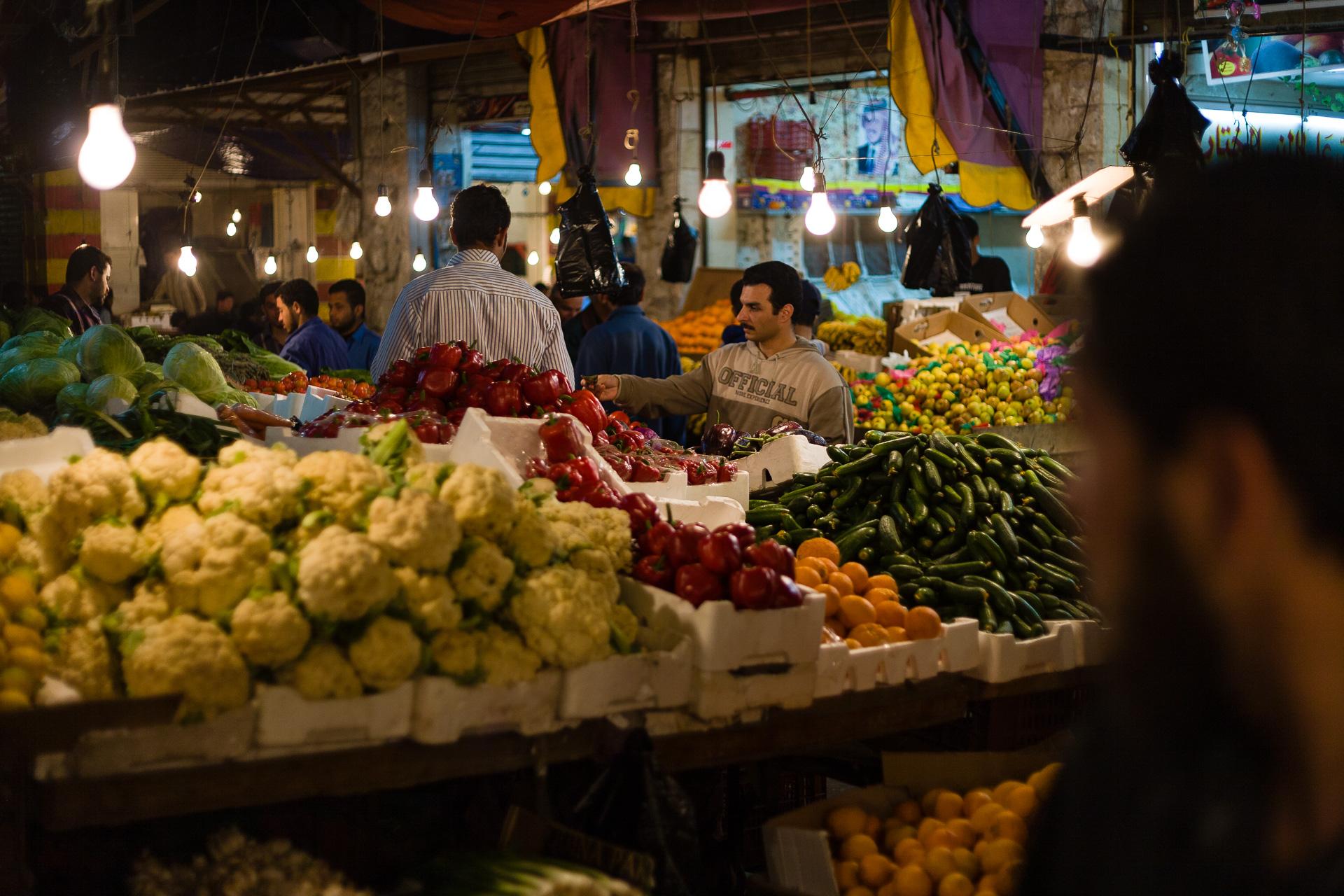marché aux légumes à Amman, capitale de la Jordanie