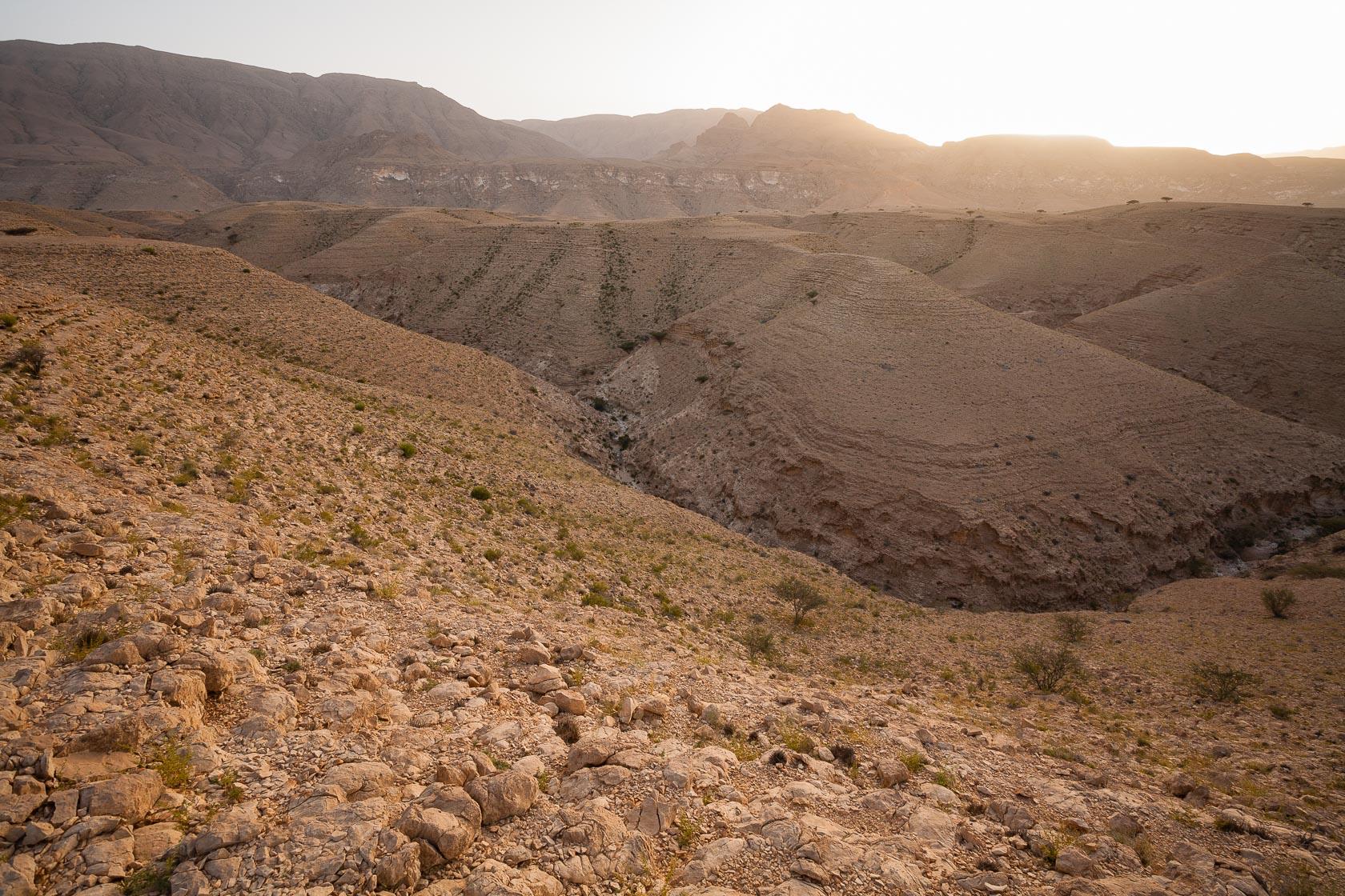 paysage du Salmah Plateau à Oman