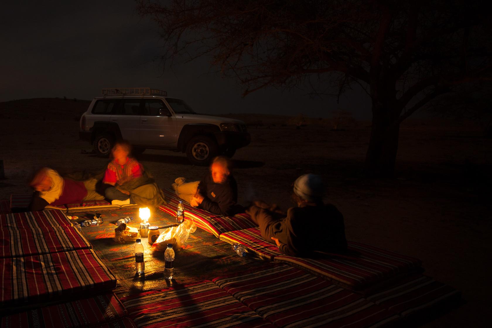 bivouac sur le Salmah Plateau à Oman