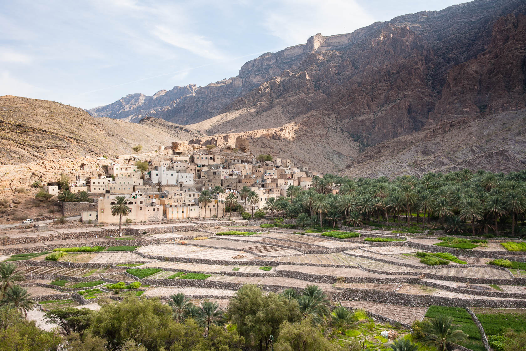 village de Bilat Sayt, dans l'Hajjar occidental, à Oman