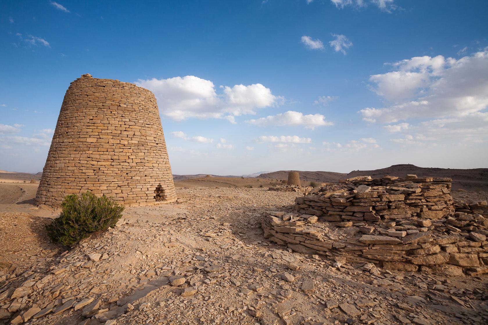 Tombes de l'age du bronze, sur le plateau de l'Hajjar orientale Oman