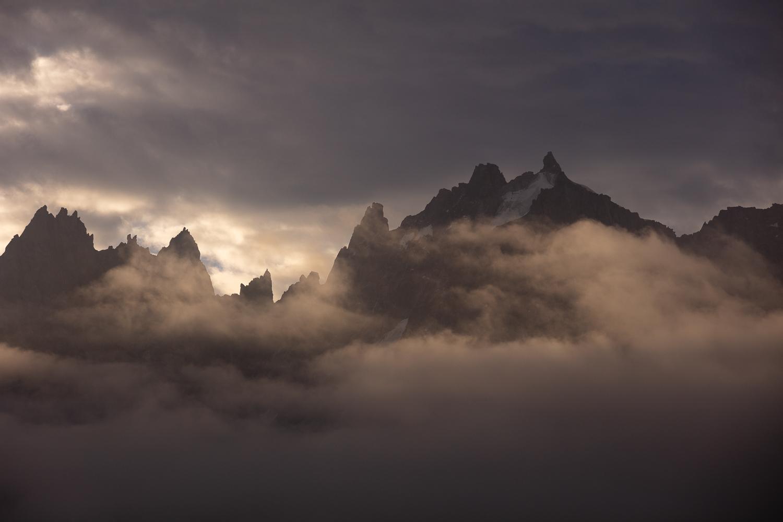 Aiguilles de chamonix en voyage photo dans les Alpes