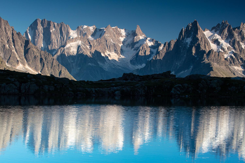 Hautes montagnes en photo en voyage photo dans les alpes