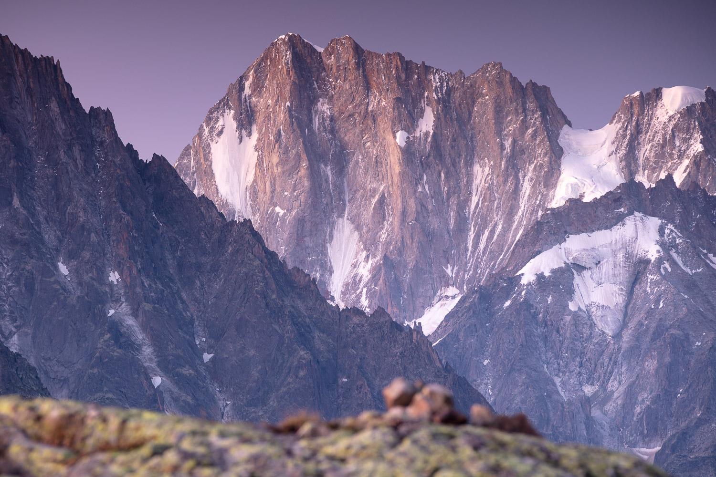 grandes Jorasses photographiées en voyages photo dans les Alpes